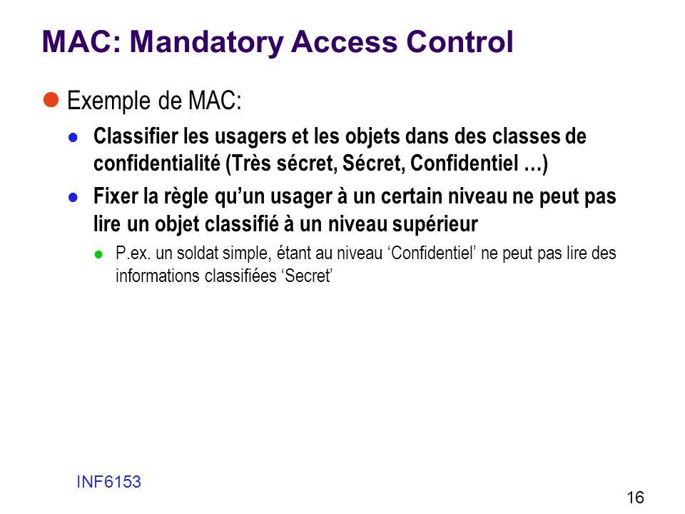 MAC: Mandatory Access Control