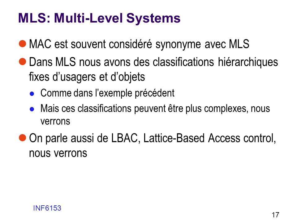 MLS: Multi-Level Systems
