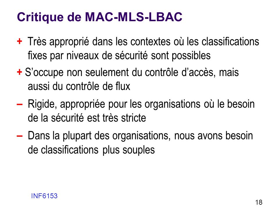 Critique de MAC-MLS-LBAC