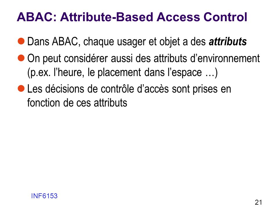 ABAC: Attribute-Based Access Control