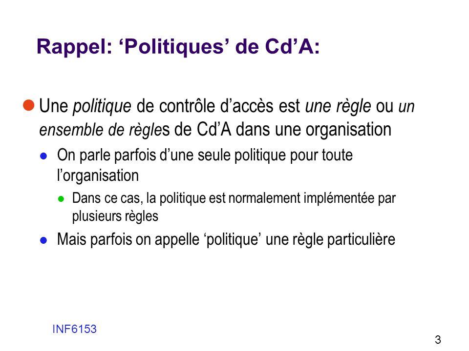 Rappel: 'Politiques' de Cd'A:
