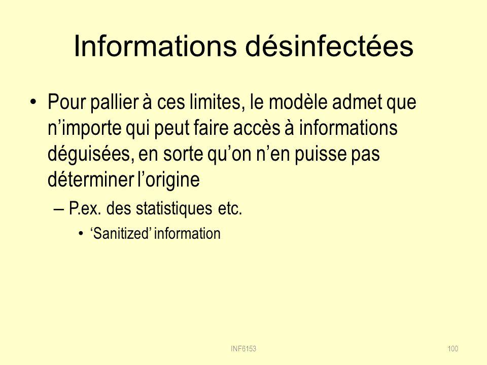 Informations désinfectées