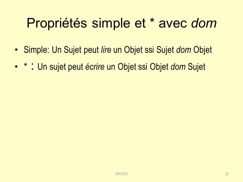 Propriétés simple et * avec dom