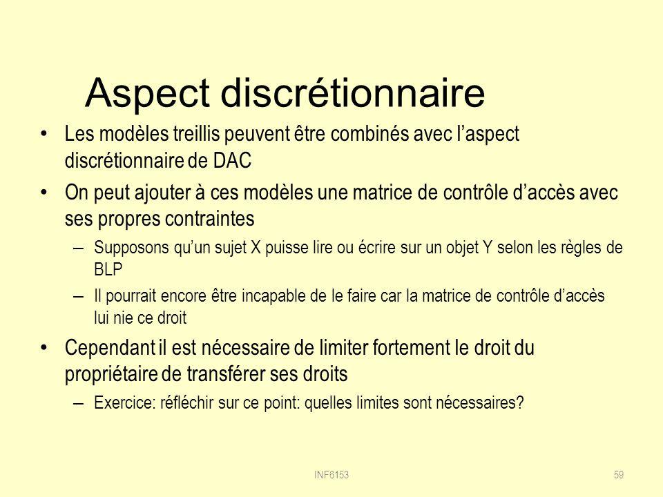Aspect discrétionnaire