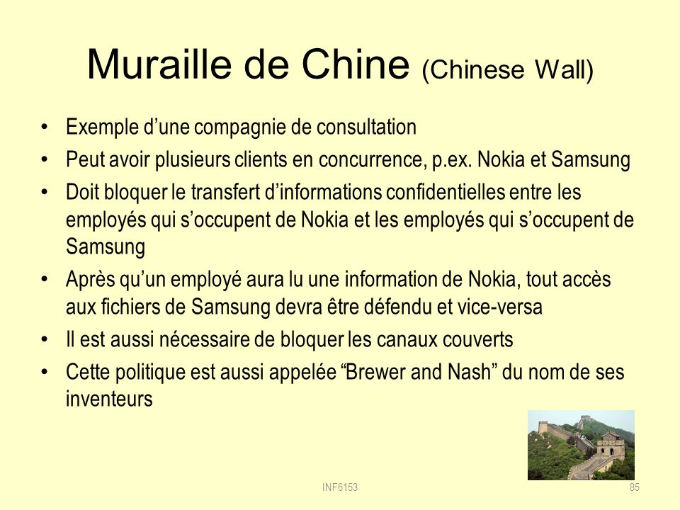 Muraille de Chine (Chinese Wall)