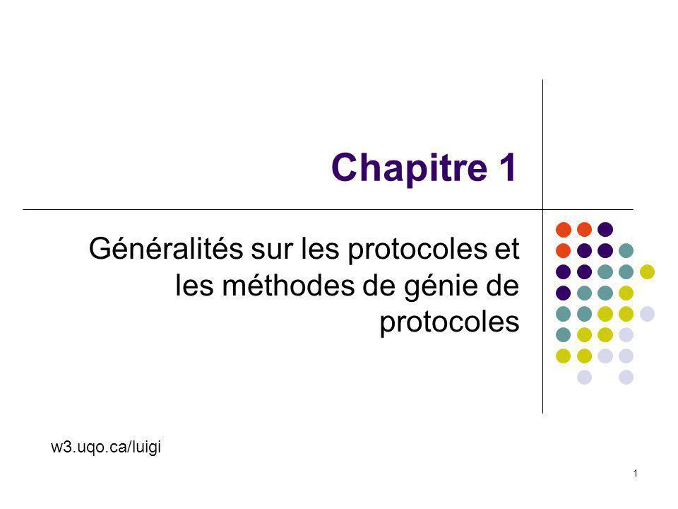 Généralités sur les protocoles et les méthodes de génie de protocoles