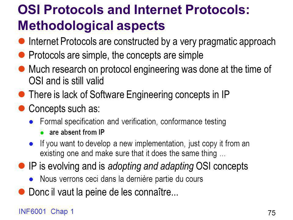 OSI Protocols and Internet Protocols: Methodological aspects