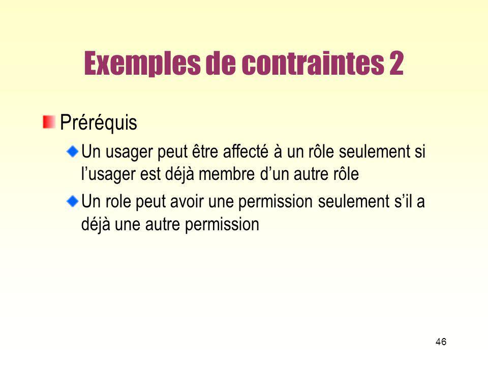 Exemples de contraintes 2