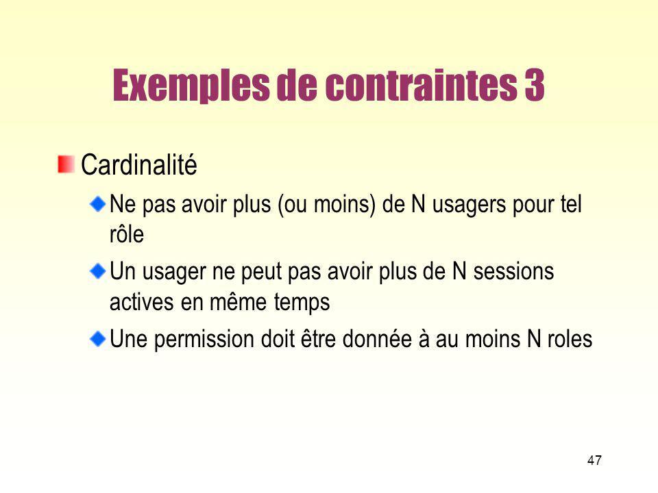 Exemples de contraintes 3