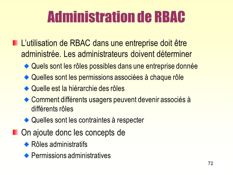 Administration de RBAC