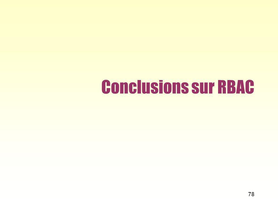 Conclusions sur RBAC