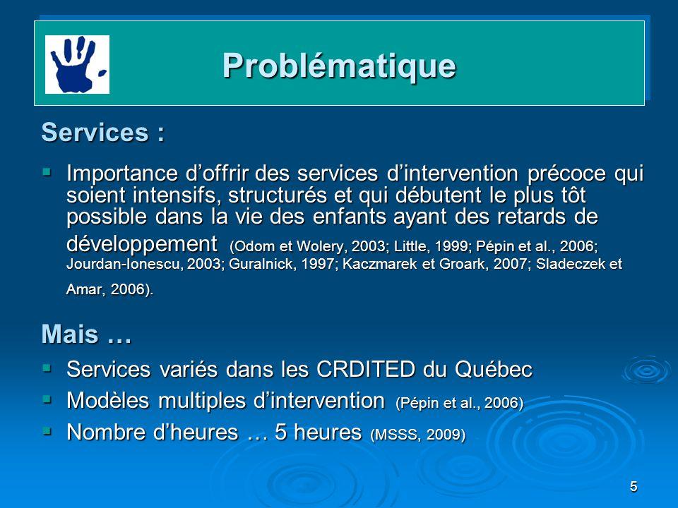 Problématique Services : Mais …