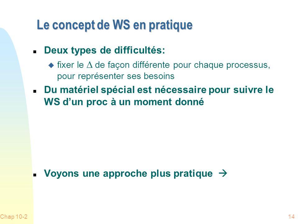 Le concept de WS en pratique