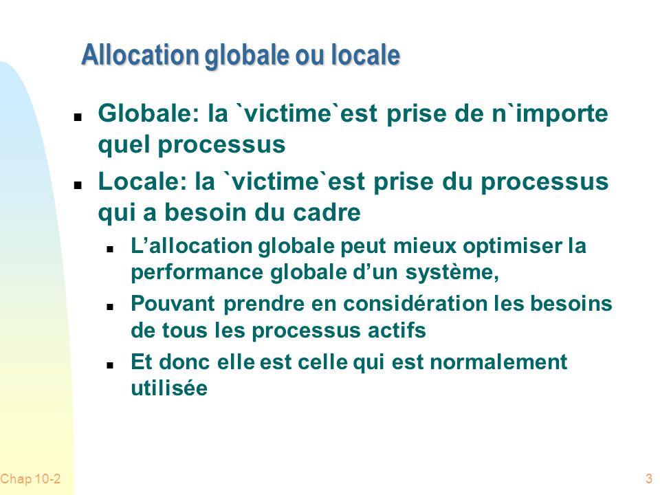 Allocation globale ou locale