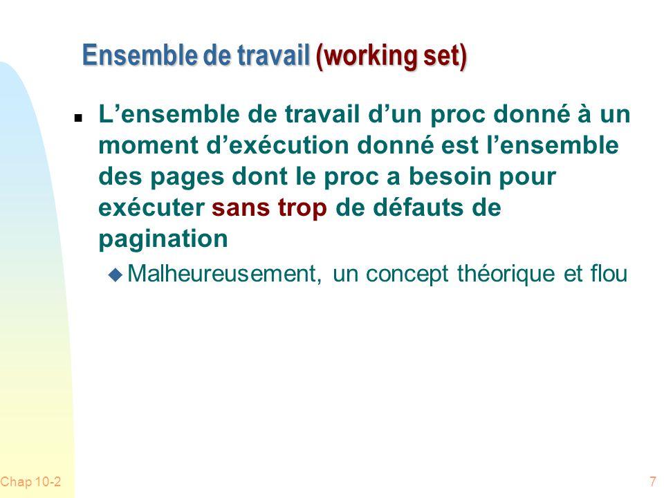 Ensemble de travail (working set)