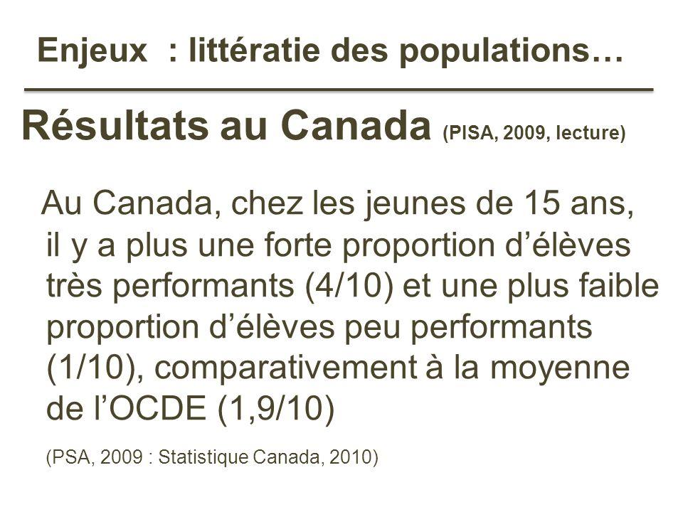 Enjeux : littératie des populations…
