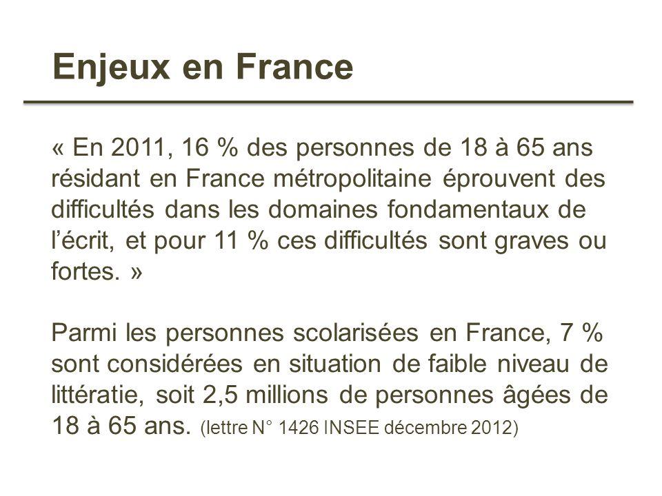 Enjeux en France