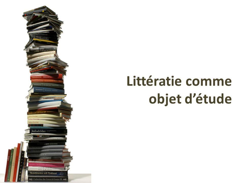 Littératie comme objet d'étude