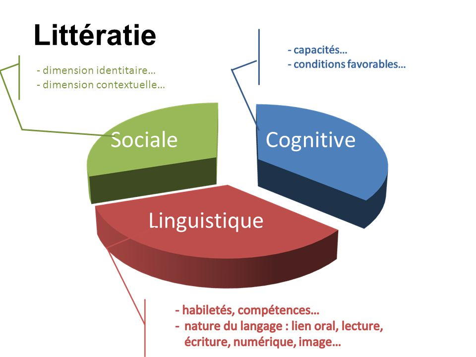 Littératie Cognitive capacités… conditions favorables…