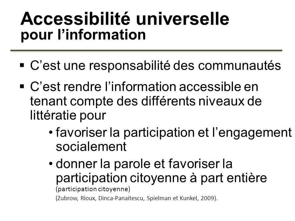 Accessibilité universelle pour l'information