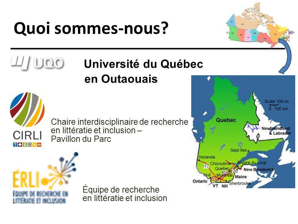 Quoi sommes-nous Université du Québec en Outaouais