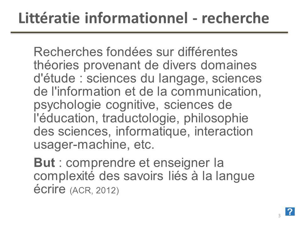Littératie informationnel - recherche