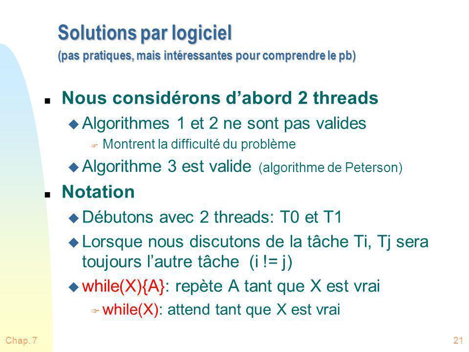 Solutions par logiciel (pas pratiques, mais intéressantes pour comprendre le pb)