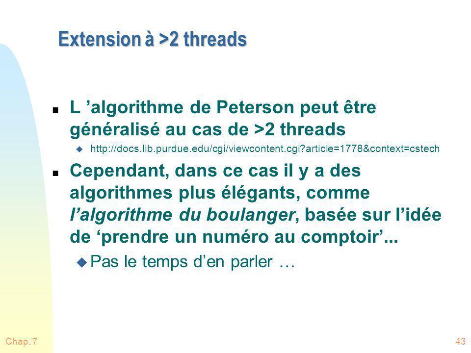 Extension à >2 threads