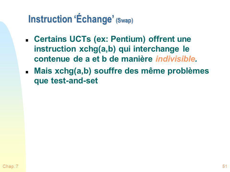Instruction 'Échange' (Swap)