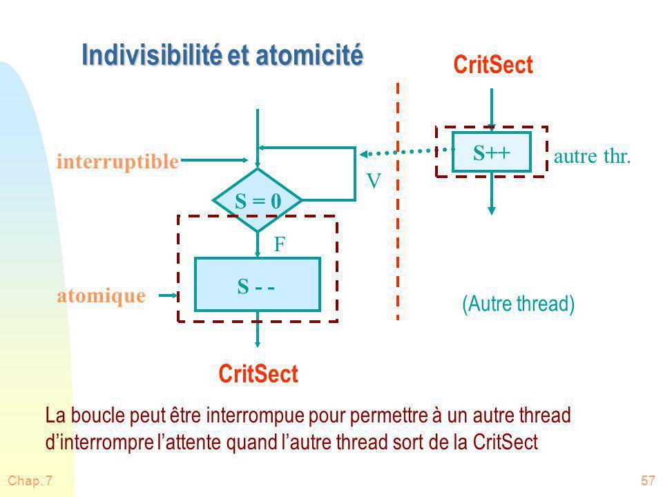 Indivisibilité et atomicité