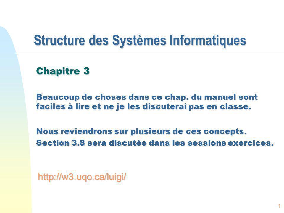 Structure des Systèmes Informatiques