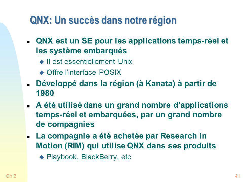 QNX: Un succès dans notre région