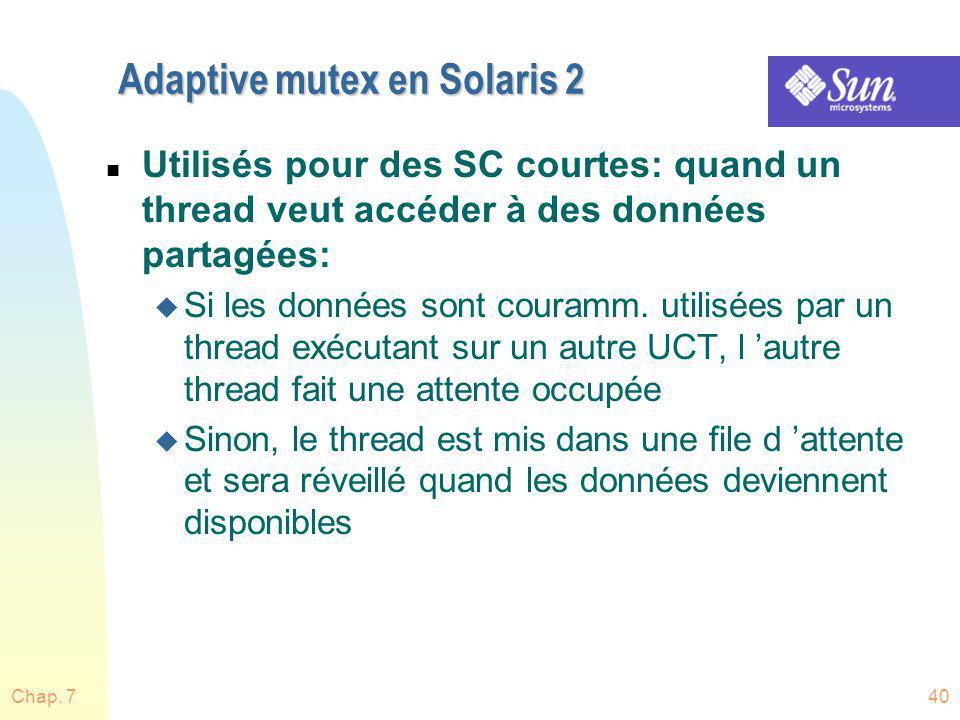 Adaptive mutex en Solaris 2