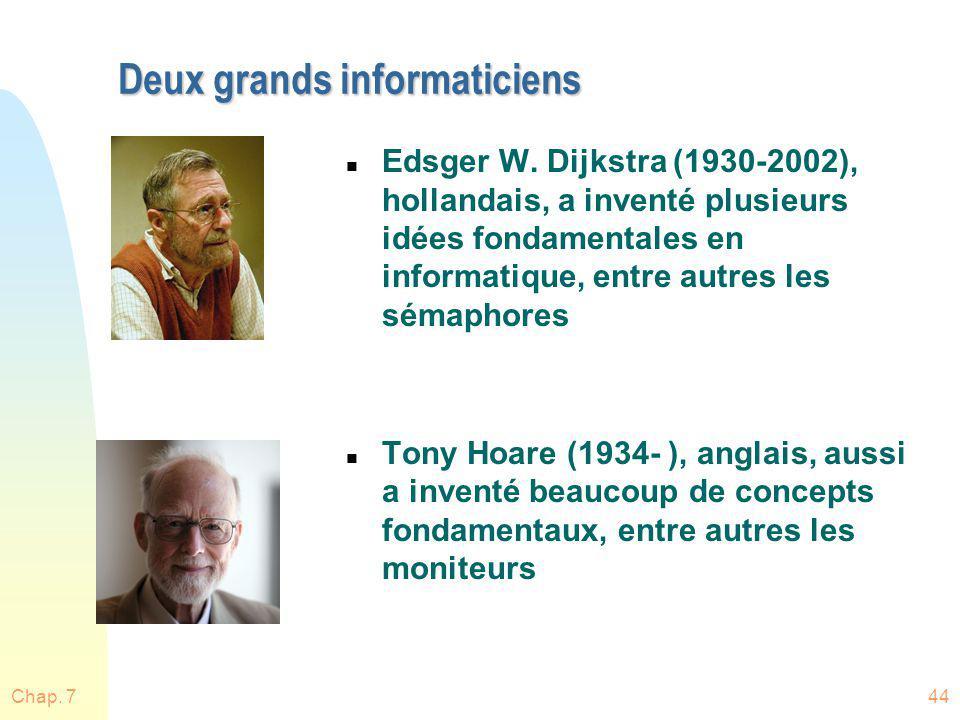 Deux grands informaticiens