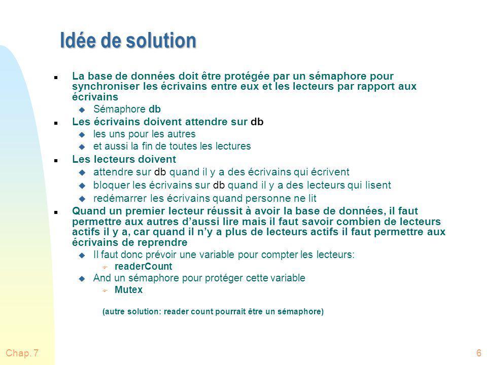 Idée de solution