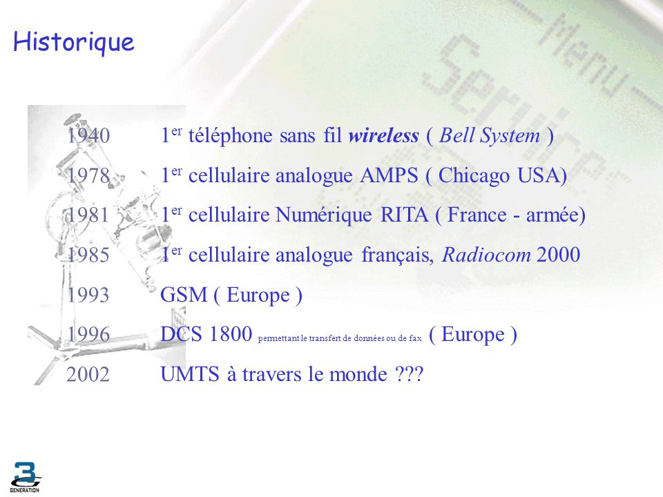 Historique 1940 1er téléphone sans fil wireless ( Bell System ) 1978
