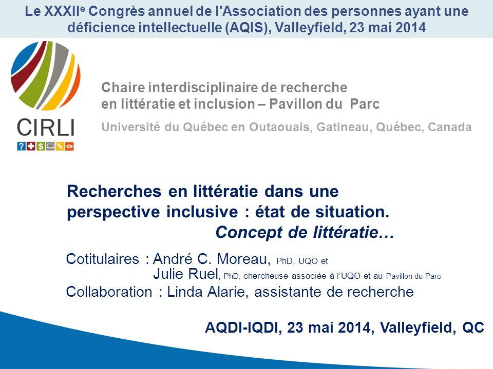 Le XXXIIe Congrès annuel de l Association des personnes ayant une déficience intellectuelle (AQIS), Valleyfield, 23 mai 2014