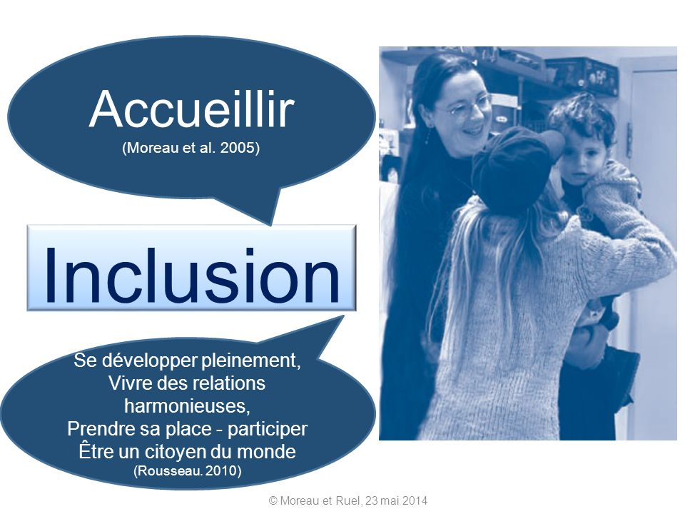 Inclusion Accueillir (Moreau et al. 2005)