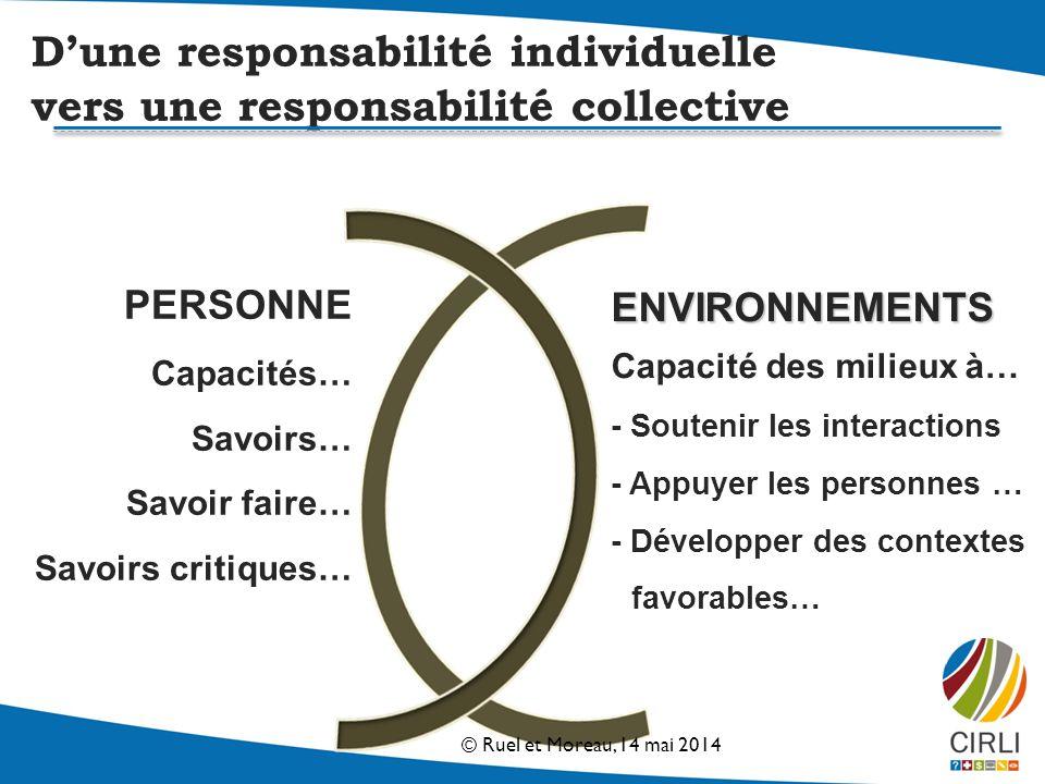 D'une responsabilité individuelle vers une responsabilité collective