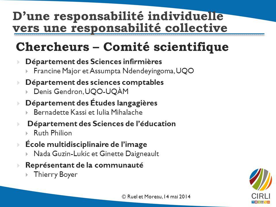 Chercheurs – Comité scientifique