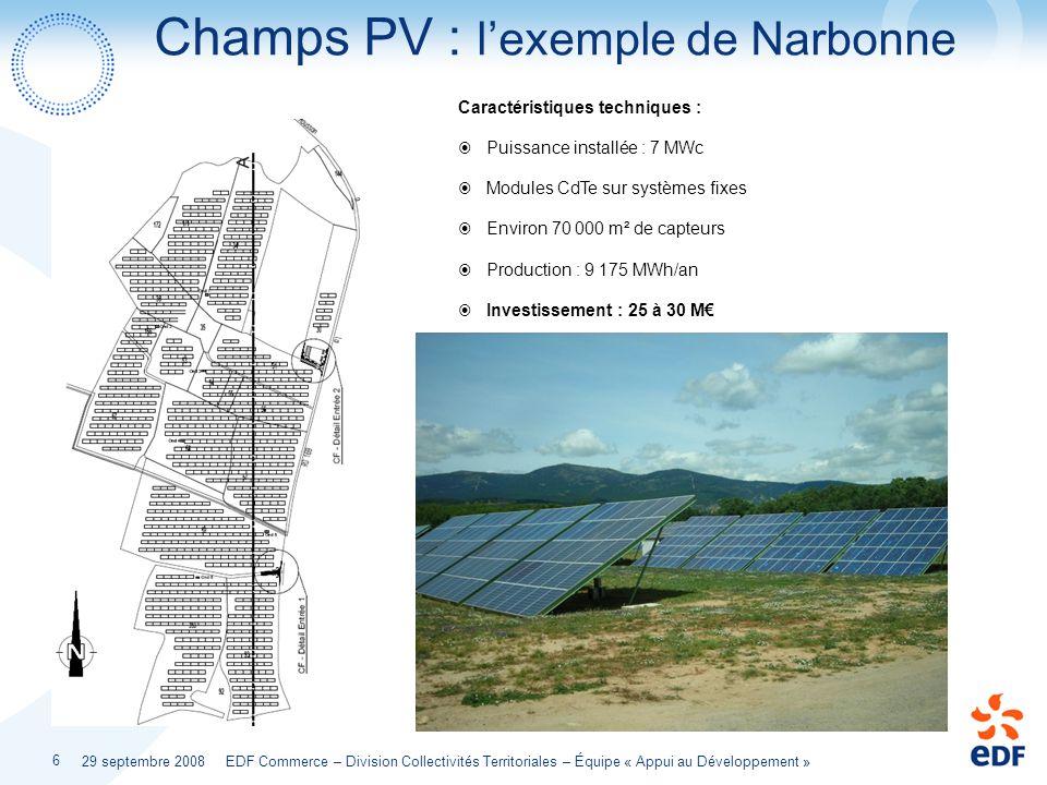 Champs PV : l'exemple de Narbonne