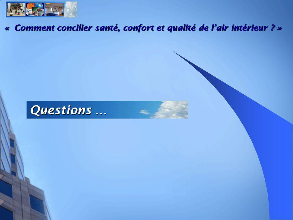 « Comment concilier santé, confort et qualité de l'air intérieur »