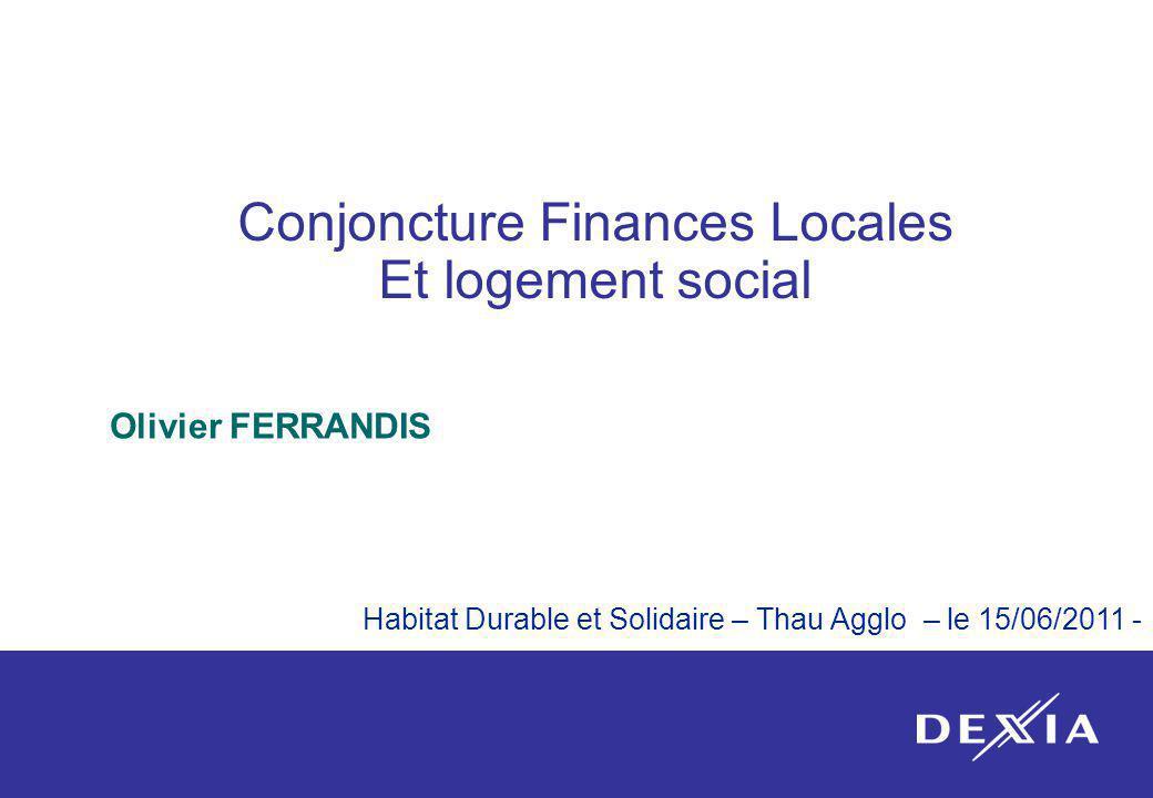 Conjoncture Finances Locales Et logement social