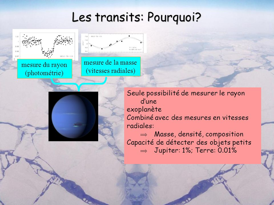 Les transits: Pourquoi
