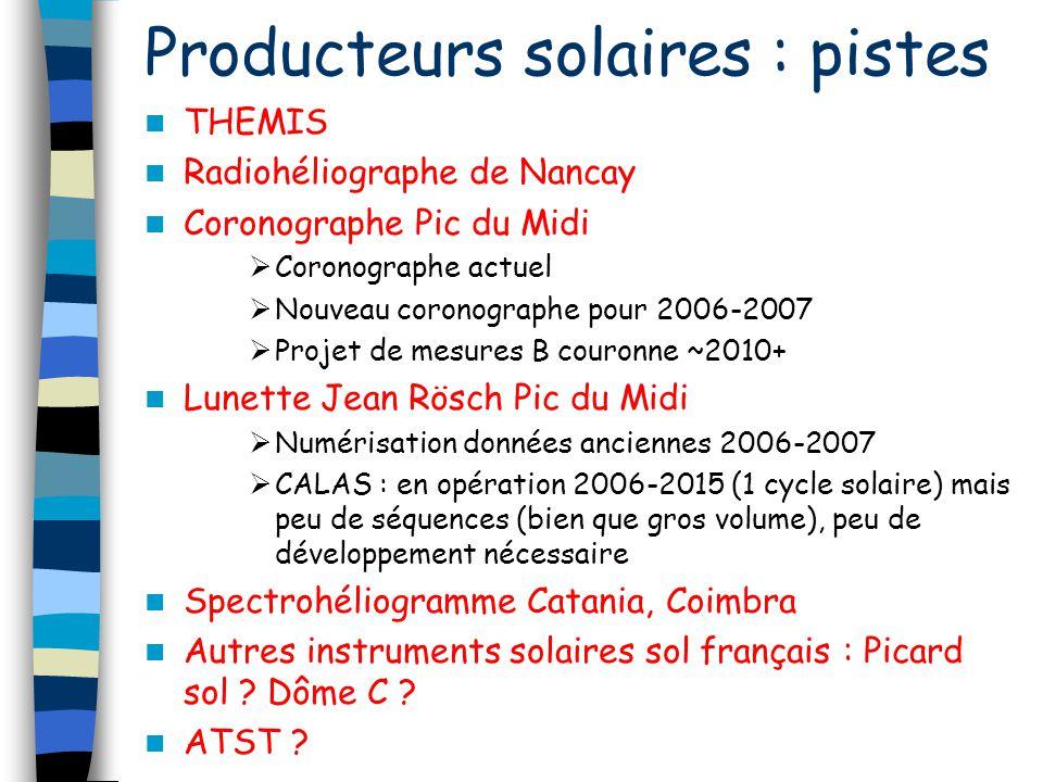 Producteurs solaires : pistes
