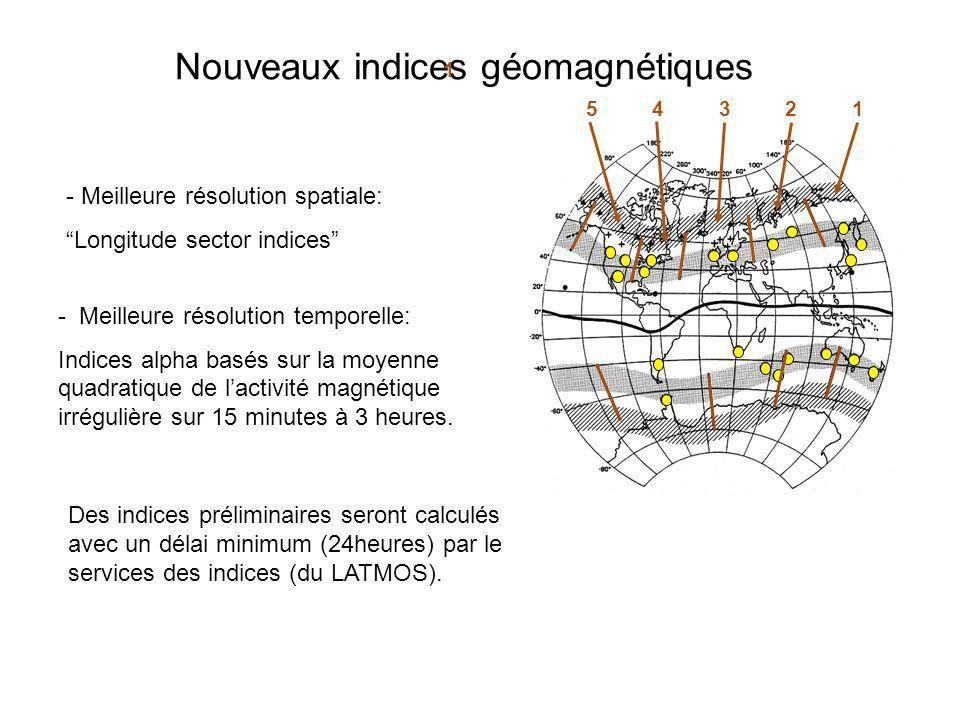 Nouveaux indices géomagnétiques