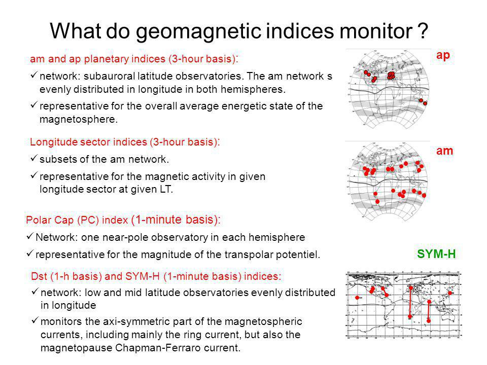 What do geomagnetic indices monitor