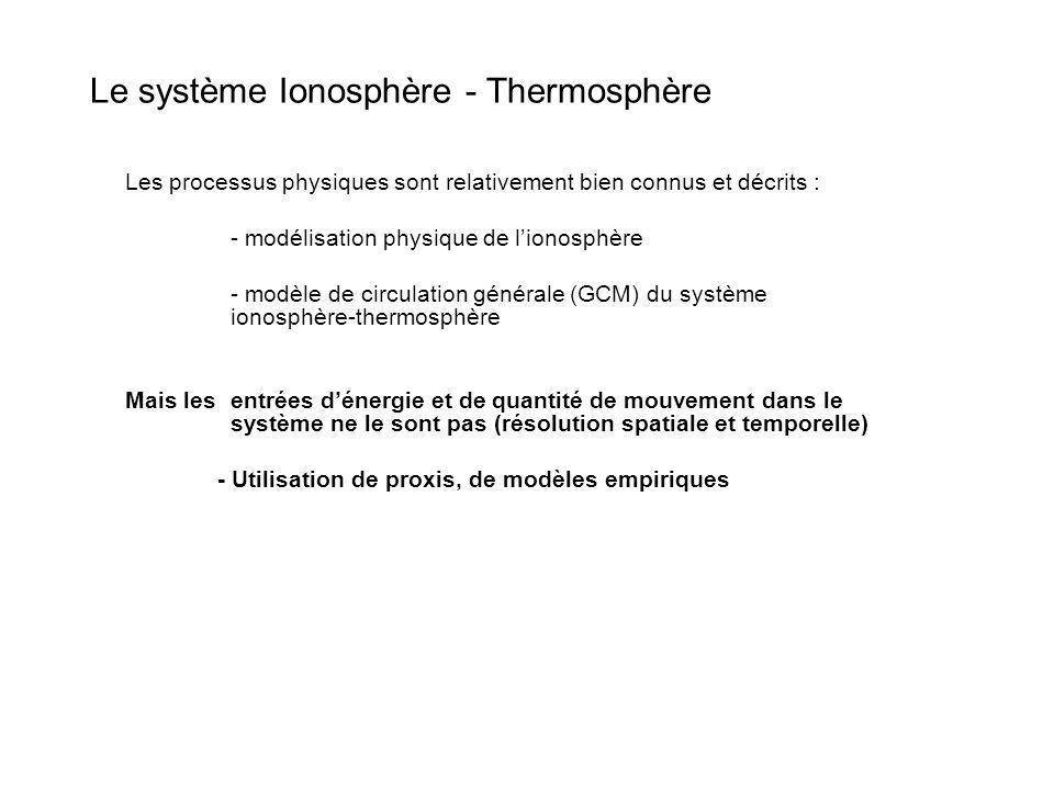 Le système Ionosphère - Thermosphère