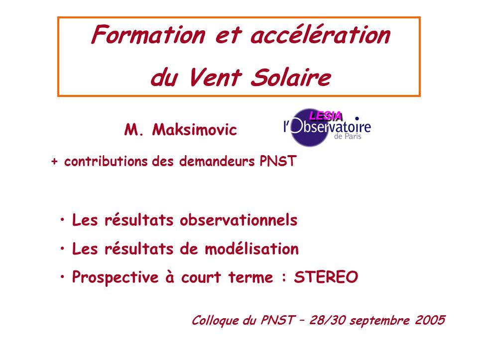 Formation et accélération + contributions des demandeurs PNST