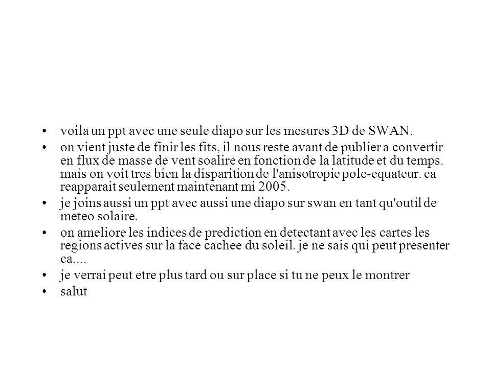 voila un ppt avec une seule diapo sur les mesures 3D de SWAN.